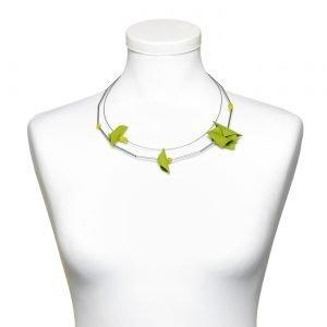 Adeola collana corta verde
